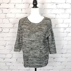 Wilfred Gray and Black Marled Knit Sweater
